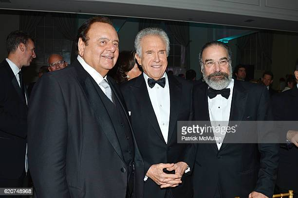 Paul Sorvino Warren Beatty and Mandy Patinkin attend the Museum Of The Moving Image 30th Annual Salute Honoring Warren Beatty at 583 Park Avenue on...