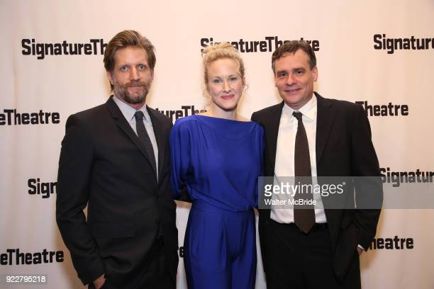 Paul Sparks Katie Finneran and Robert Sean Leonard attend the OffBroadway Opening Night performance of 'At Home at the Zoo' on February 21 2018 at...