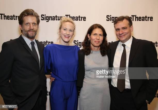 Paul Sparks Katie Finneran Lila Neugebauer and Robert Sean Leonard attend the OffBroadway Opening Night performance of 'At Home at the Zoo' on...