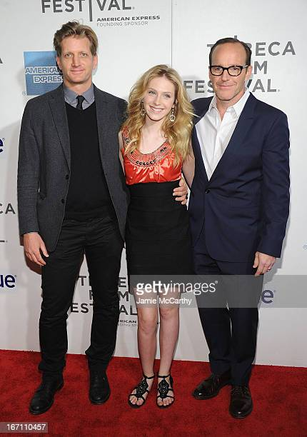 Paul Sparks Saxon Sharbino and Clark Gregg attend the screening of 'Trust Me' during the 2013 Tribeca Film Festival at BMCC Tribeca PAC on April 20...
