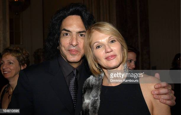 Paul Stanley and Ellen Barkin during Katie Couric and the Entertainment Industry Foundation Unite Hollywood & Broadway Stars to Launch The Jay...
