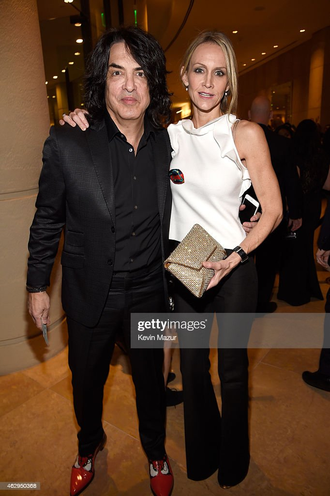 Paul Stanley and Erin Sutton attend the Pre-GRAMMY Gala And Salute To Industry Icons Honoring Martin Bandier at The Beverly Hilton on February 7, 2015 in Los Angeles, California.