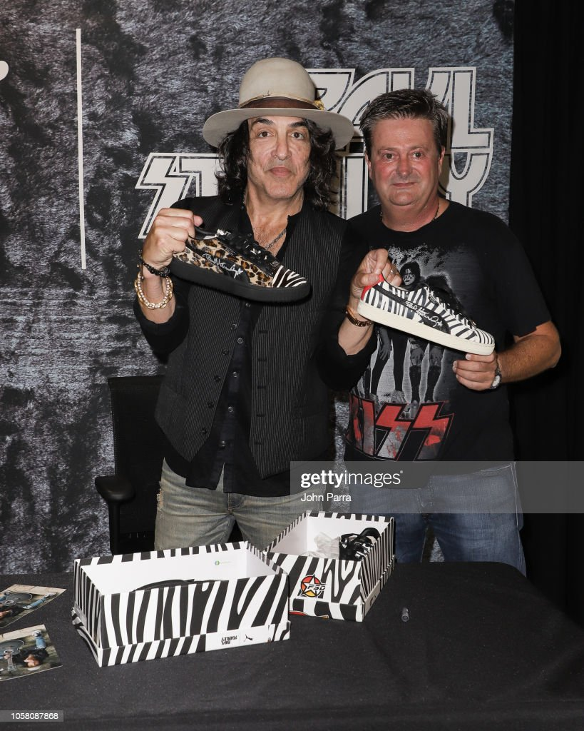 on sale f2149 cea2d Paul Stanley and fans are seen at the Puma x Capsule ...
