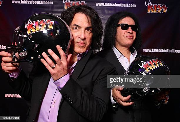 Paul Stanley and Gene Simmons announce AFL Head Coach For New Arena Football Team In Los Angeles at House of Blues Sunset Strip on September 17 2013...