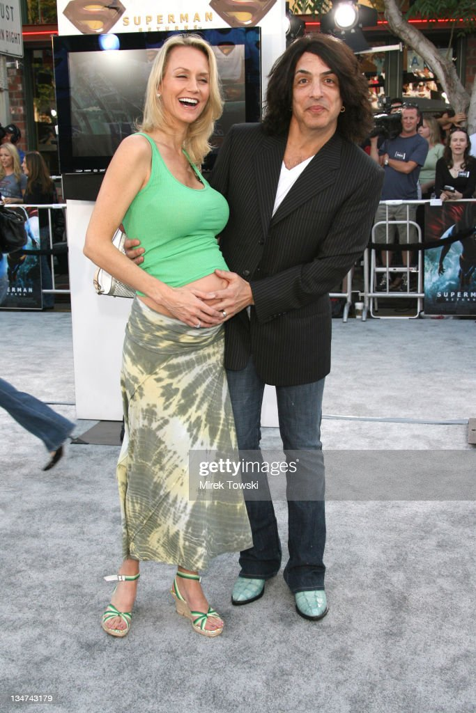 Paul Stanley and his wife during 'Superman Returns' Los Angeles Premiere at Mann Village and Bruin Theaters in Westwood, California, United States.