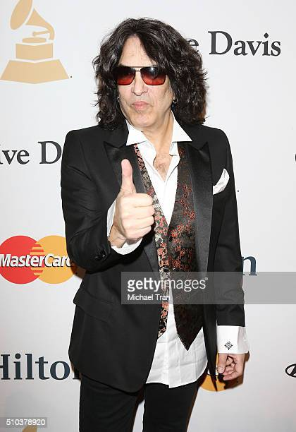 891b6a63ca16 Paul Stanley arrives at the 2016 PreGRAMMY Gala and Salute to Industry  Icons honoring Irving Azoff