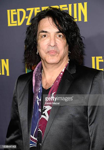 Paul Stanley attends premiere of Led Zeppelin Celebration Day at Ziegfeld Theatre on October 9 2012 in New York City Led Zeppelin's John Paul Jones...