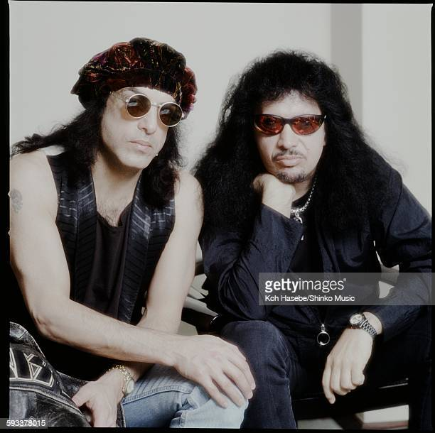Paul Stanley Gene Simmons real face of photography and glasses at the hotel Tokyo April 1988
