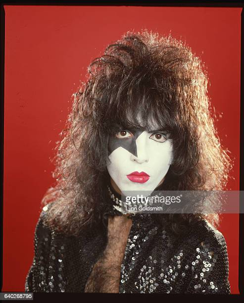 Paul Stanley member of the rock group Kiss in makeup Undated head and shoulders photograph