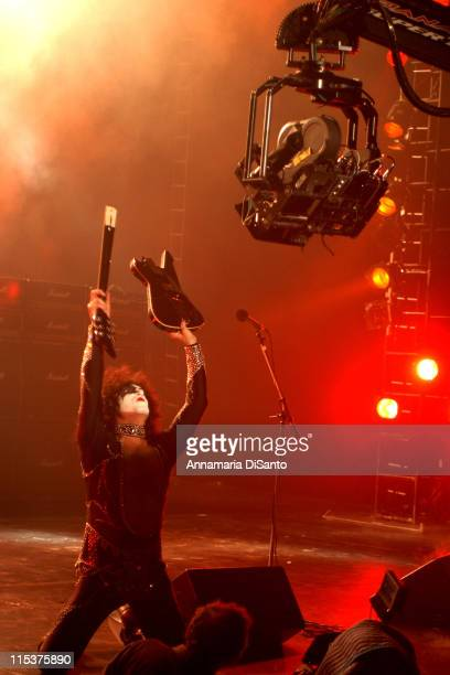 Paul Stanley of KISS during Special Performance of KISS on the Season Opener of 'That 70's Show' at Hollywood Studios in Los Angeles California...