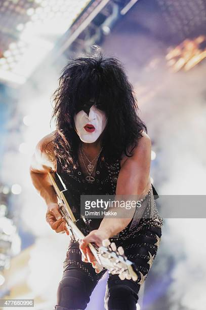 Paul Stanley of Kiss performs at Ziggo Dome on June 18 2015 in Amsterdam Netherlands
