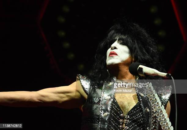 Paul Stanley of KISS performs on stage during End Of The Road World Tour at Madison Square Garden on March 27 2019 in New York City