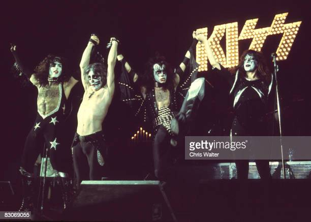 Paul Stanley Peter Criss Gene Simmons and Ace Frehley of KISS in London 1976