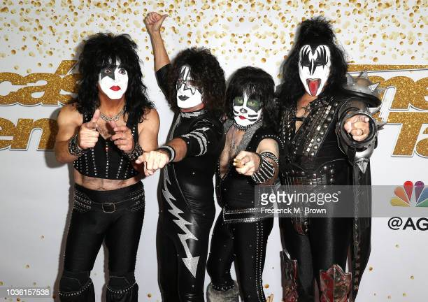 Paul Stanley Tommy Thayer Eric Singer and Gene Simmons of Kiss attend America's Got Talent Season 13 Finale Live Show Red Carpet at the Dolby Theatre...