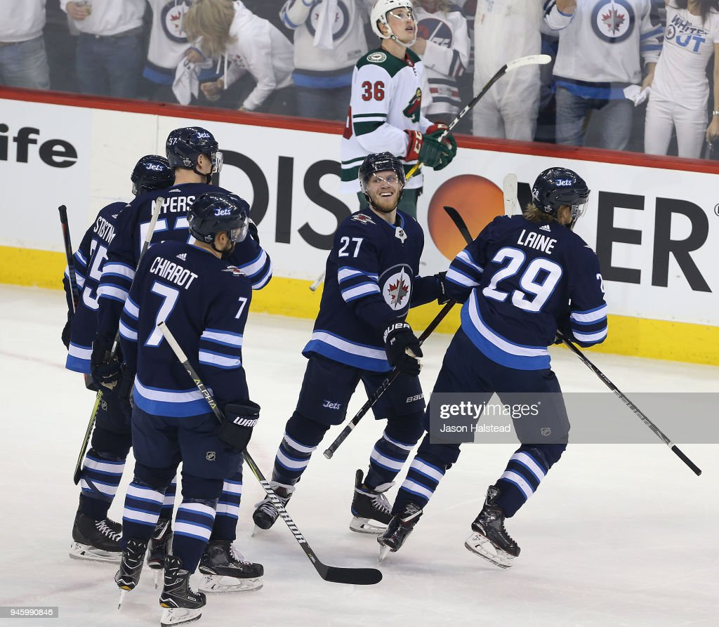 Minnesota Wild v Winnipeg Jets - Game Two : News Photo