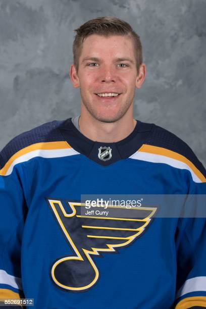 Paul Stastny of the St Louis Blues poses for his official headshot for the 20172018 season on September 14 2017 in St Louis Missouri