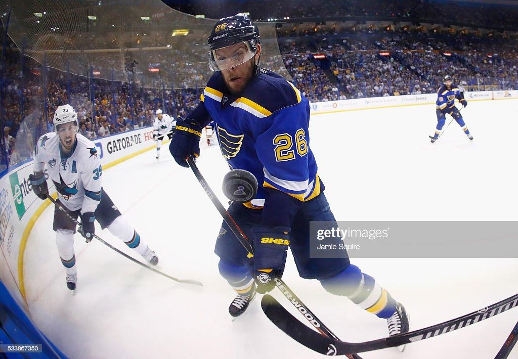 San Jose Sharks v St Louis Blues - Game Five : News Photo