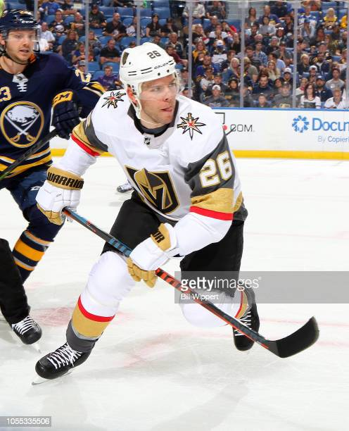 Paul Stastny of the Vegas Golden Knights skates against the Buffalo Sabres during an NHL game on October 8 2018 at KeyBank Center in Buffalo New York