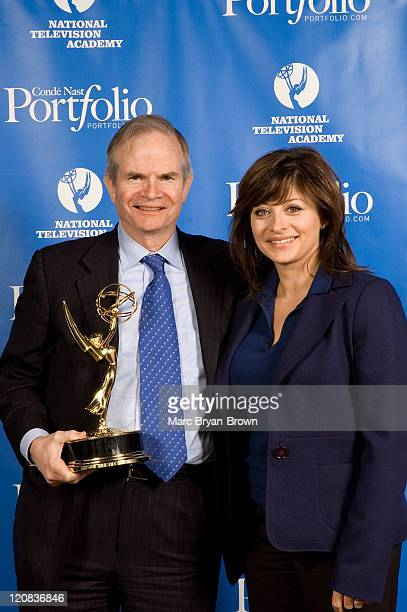 Paul Steiger of the Wall Street Journal and Recipient of the Lifetime Achievement Award and Maria Bartiromo CNBC Anchor