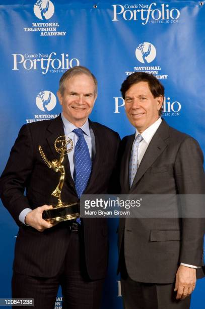 Paul Steiger of the Wall Street Journal and Recipient of the Lifetime Achievement Award and Peter Price NATAS President
