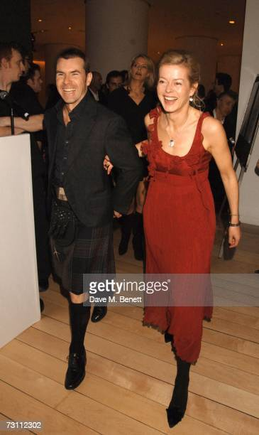 Paul Stewart and Lady Helen Taylor attend the Burns Night Party in aid of Clic Sargent and Children's Hospice Association Scotland at St Martins Lane...
