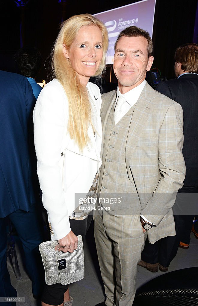 Paul Stewart (R) and Victoria Stewart attend the global launch of the FIA Formula E Championship, celebrating the founding of the first ever all-electric race series, at The Roundhouse on June 30, 2014 in London, England.