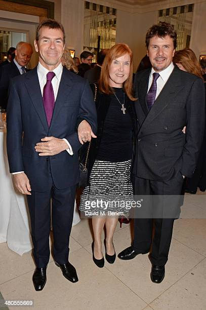 Paul Stewart Lady Helen Stewart and Mark Stewart attend a private dinner hosted by Spear's for The Mayo Clinic at Claridge's Hotel on March 25 2014...