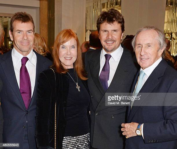 Paul Stewart Lady Helen Stewart Mark Stewart and Sir Jackie Stewart attend a private dinner hosted by Spear's for The Mayo Clinic at Claridge's Hotel...