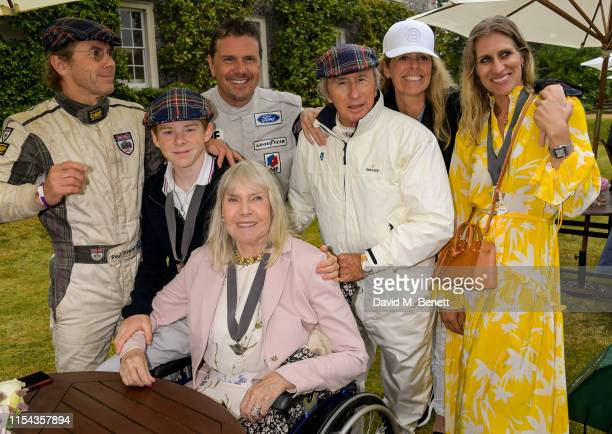 Paul Stewart Mark Stewart Sir Jackie Stewart Victoria Stewart Anne Stewart and Helen Stewart attend Cartier Style Et Luxe at the Goodwood Festival Of...