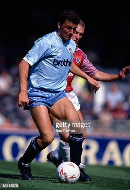 Paul Stewart of Manchester City during the Aston Villa v Manchester City Division 2 match played at Villa Park in Birmingham on the 31st August 1987