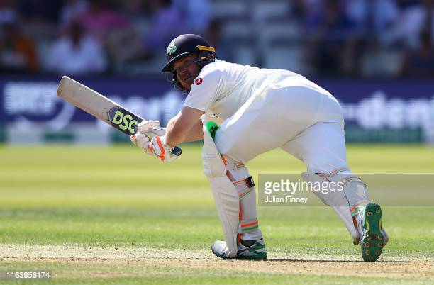 Paul Stirling of Ireland bats during day one of the Specsavers Test Match between England and Ireland at Lord's Cricket Ground on July 24 2019 in...