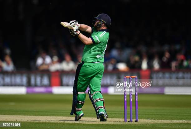 Paul Stirling of Ireland bats during the Royal London One Day International between England and Ireland at Lord's Cricket Ground on May 7 2017 in...