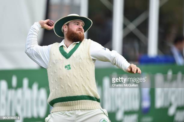 Paul Stirling of Ireland during the fifth day of the international test cricket match between Ireland and Pakistan on May 15 2018 in Malahide Ireland