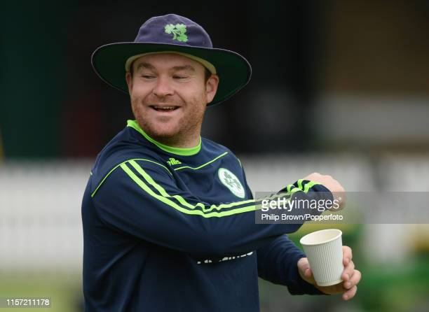 Paul Stirling of Ireland looks on before the one off test match against Ireland at Lord's on July 22 2019 in London England