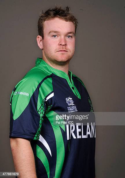 Paul Stirling of Ireland poses for a picture during a headshot session ahead of the ICC T20 World cup on March 10 2014 in Dhaka Bangladesh