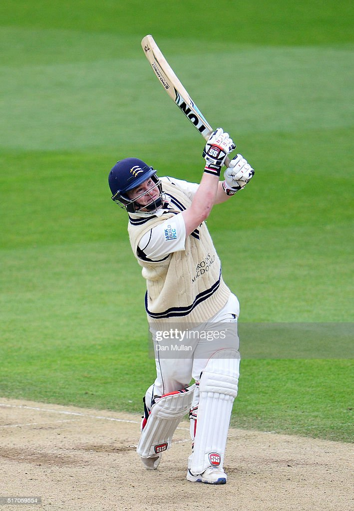Paul Stirling of Middlesex bats during day two of the pre-season friendly between Surrey and Middlesex at The Kia Oval on March 23, 2016 in London, England.