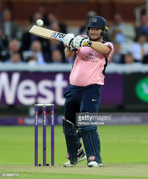 Paul Stirling of Middlesex bats during the NatWest T20 Blast match between Middlesex and Surrey at Lord's Cricket Ground on July 13 2017 in London...