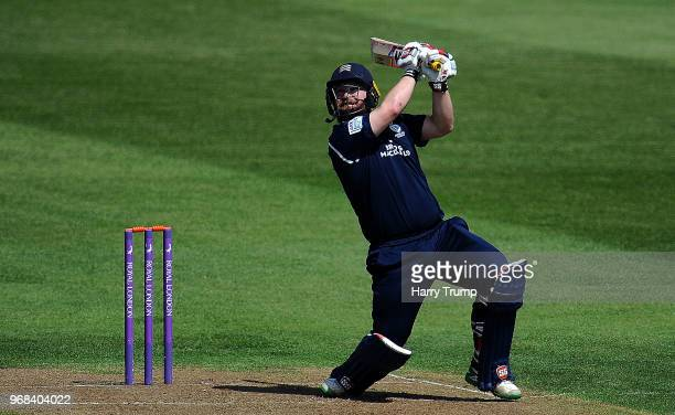 Paul Stirling of Middlesex bats during the Royal London OneDay Cup match between Gloucestershire and Middlesex at the Brightside Ground on June 6...