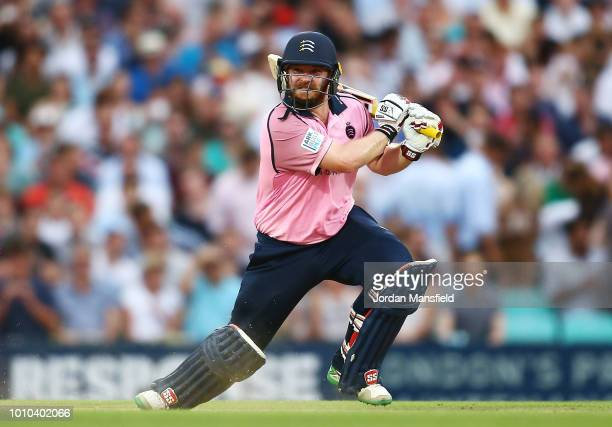 Paul Stirling of Middlesex bats during the Vitality Blast match between Surrey and Middlesex at The Kia Oval on August 3 2018 in London England