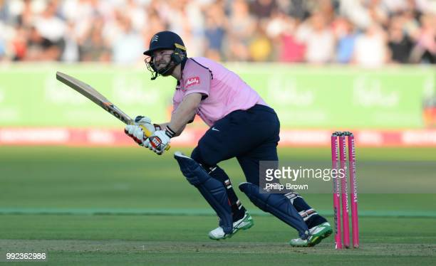 Paul Stirling of Middlesex bats during the Vitality T20 Blast match between Middlesex and Surrey at Lord's Cricket Ground on July 5 2018 in London...