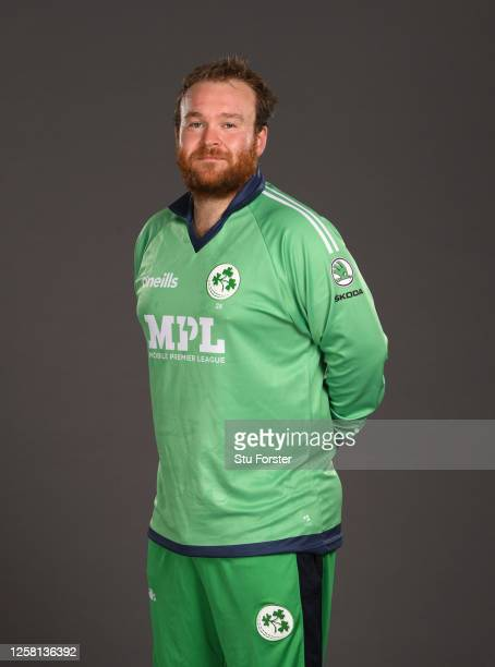 Paul Stirling poses for a portrait during the Ireland One Day International Squad Photo call at Ageas Bowl on July 24, 2020 in Southampton, England.