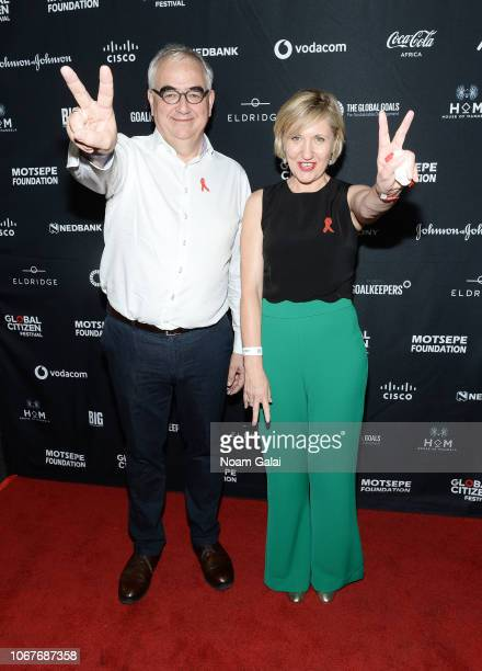 Paul Stoffels Chief Scientific Officer at Johnson Johnson and Dr Glenda Gray President of South African Medical attend the Global Citizen Festival...
