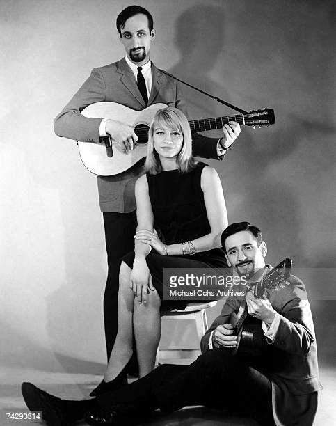 Paul Stooker Mary Travers and Peter Yarrow of the folk group Peter Paul Mary pose for a portrait in circa 1965