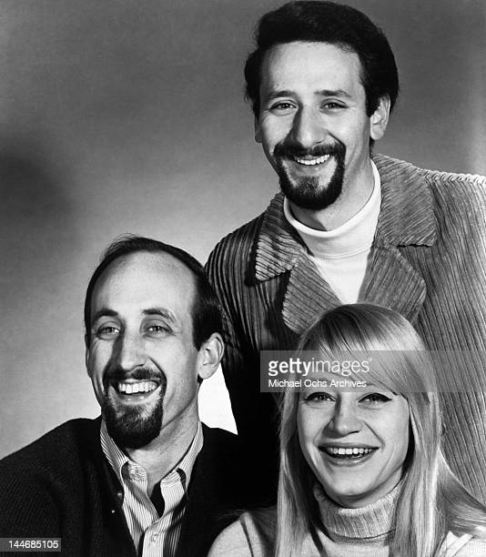 Paul Stookey Peter Yarrow and Mary Travers of the folk group 'Peter Paul Mary' pose for a portrait circa 1965