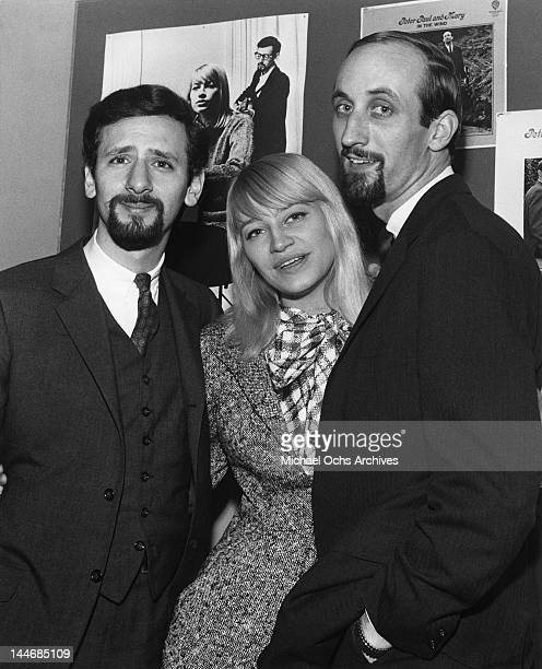 Paul Stookey Peter Yarrow and Mary Travers of the folk group 'Peter Paul Mary' pose for a portrait on April 3 1964