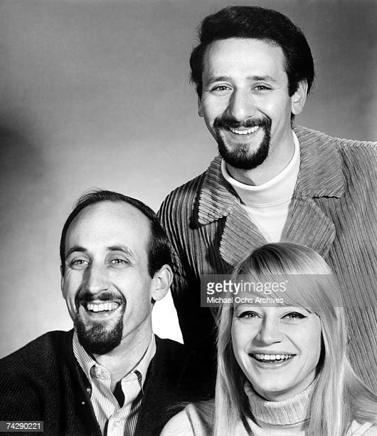 Paul Stookey Peter Yarrow and Mary Travers of the folk group Peter Paul Mary pose for a portrait in circa 1965