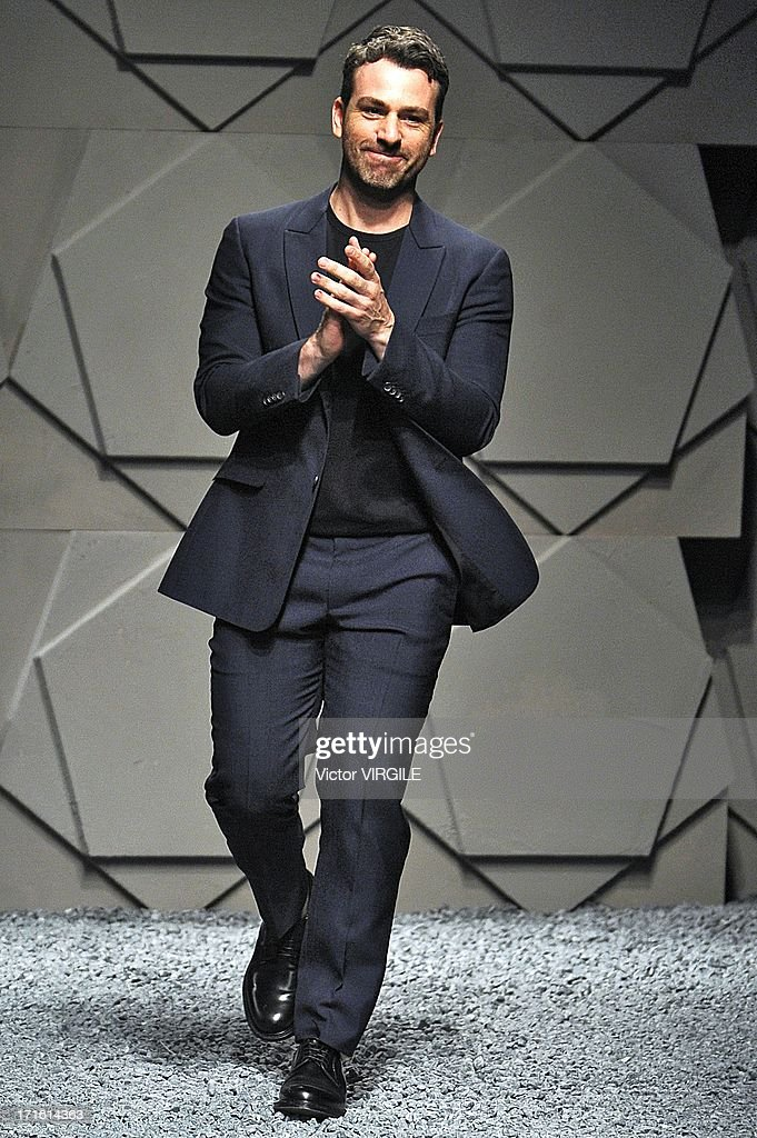 Paul Surridge walks the runway at the Z Zegna show during Milan Menswear Fashion Week Spring Summer 2014 on June 25, 2013 in Milan, Italy.