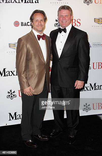 Paul T Lehr and Brian Cullinan attend the 2015 YoungArts Backyard Ball on January 10 2015 in Miami Florida