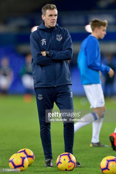 Paul Tait of Everton during the FA Youth Cup match between Everton and Brighton Hove Albion at Goodison Park on February 12 2019 in Liverpool England