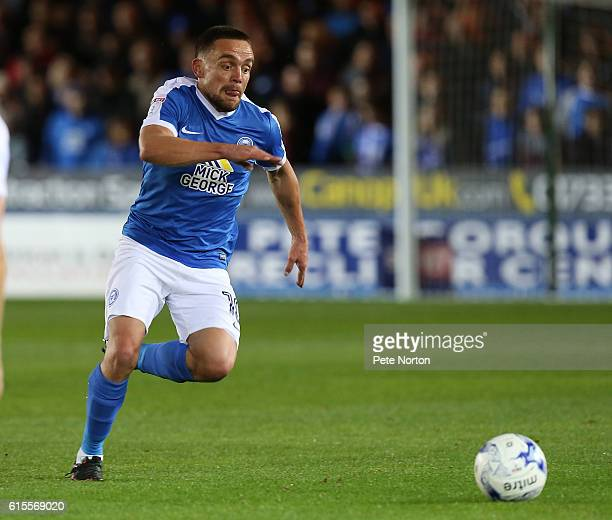 Paul Taylor of Peterborough United in action during the Sky Bet League One match between Peterborough United and Northampton Town at ABAX Stadium on...